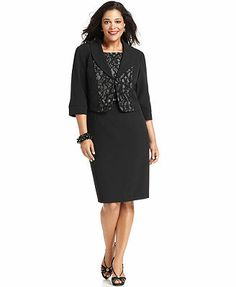 c8268cfed36 Le Bos Plus Size Dress and Jacket