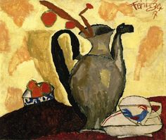 Lyonel Feininger - Still Life with Can (1917) http://www.flickr.com/photos/gandalfsgallery/6055115105/