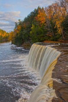 Tahquamenon Falls in Paradise, Michigan. Make the trip to see one of Michigan's Upper Peninsula's gems no matter what the season.