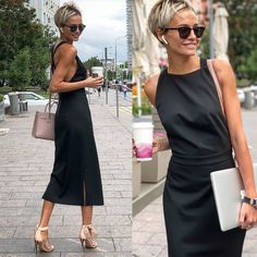 New hair women cut outfit Ideas Paris Chic, Short Hair Cuts, Short Hair Styles, Pixie Cuts, Short Pixie, Look Fashion, Fashion Beauty, Mode Outfits, Fashion Outfits