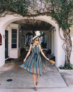 "1,451 Likes, 10 Comments - LIKEtoKNOW.it (@liketoknow.it) on Instagram: ""Sunny day accessories and a sheer midi, flow through the weekend in twirl-worthy style a la…"""