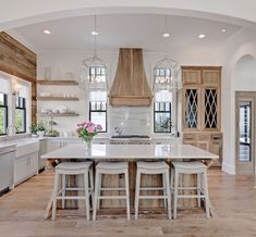 Excellent modern kitchen room are readily available on our website. Modern Farmhouse Kitchens, Rustic Kitchen, Kitchen Modern, Tudor Kitchen, Minimal Kitchen, Modern Farmhouse Design, Eclectic Kitchen, Modern Rustic, Interior Modern