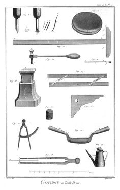 Diderot et D'Alembert outils taille douce 2 Capes, Blacksmithing, Tools, Image, Cape Clothing, Blacksmith Shop, Instruments, Mantles, Cape