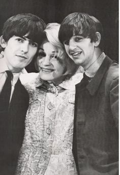George and Ringo with the famed Marlene Dietrich