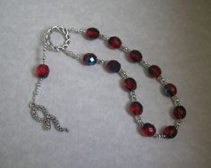 Asklepios (Asclepios) Pocket Prayer Beads: Greek God of Healing and Health, Patron of Physicians and Health Professionals, Son of Apollo by HearthfireHandworks on Etsy