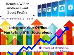 Integrate Your Offline Marketing With Social Media https://www.audiense.com/10-ideas-examples-to-get-you-integrating-your-offline-marketing-with-social-media-tips/ Peace of Mind Social - Affordable social media content creation 7 days a week. #marketing #smm #integrated #tips