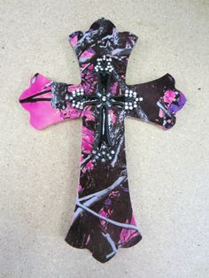 Small muddy girl camo with black cross. $30.00, via Etsy. , This Item is sold. I'm so gonna have to buy some Muddy Girl wrap and make one!