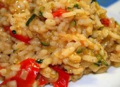 zucchini & cherry tomato risotto « When Harry Met Salad Veggie Recipes, Gourmet Recipes, Crockpot Recipes, Vegetarian Recipes, Healthy Recipes, Fodmap Recipes, Healthy Eats, Yummy Recipes, Tapas
