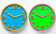 Wall Clock Bi Color 30cm Assorted