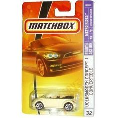 Mattel Matchbox 2007 MBX Metro Rides 1:64 Scale Die Cast Metal Car # 32 - Pale Yellow Coupe Volkswagen Concept 1 Convertible by MBX. $8.99. 1:64 Scale. Diecast Metal and Plastic Parts. For age 3 and up. Realistic Details. Mattel Matchbox 2007 MBX Metro Rides 1:64 Scale Die Cast Metal Car # 32 - Pale Yellow Coupe Volkswagen Concept 1 Convertible
