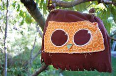 Toad's Treasures: DIY Shabby Tough Guy Owl Beanie