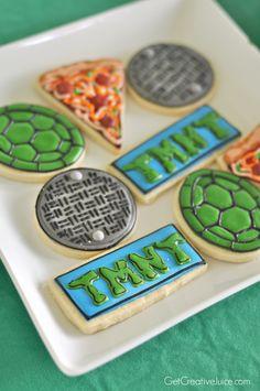 TMNT sugar cookies by Auntie Bea's Bakery