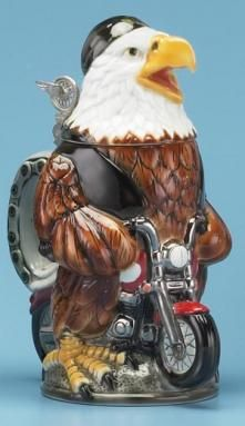 BIKER EAGLE BEER STEIN