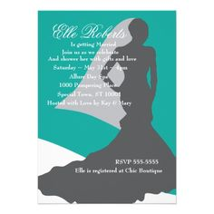 Shy Bride Custom Invitation