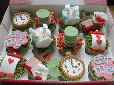 Order Alice in Wonderland cake online | Caterpillar cake pops, rabbit cookies, Alice petticoat cupcakes & wedding macarons