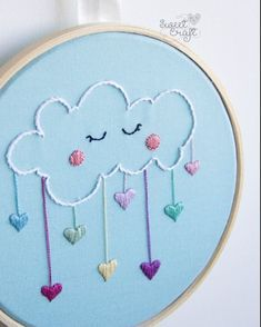 Grand Sewing Embroidery Designs At Home Ideas. Beauteous Finished Sewing Embroidery Designs At Home Ideas. Baby Embroidery, Flower Embroidery Designs, Creative Embroidery, Simple Embroidery, Hand Embroidery Stitches, Embroidery Hoop Art, Cross Stitch Embroidery, Embroidery Ideas, Ribbon Embroidery