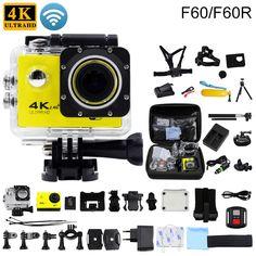 F60/F60R Original Action camera 4K/30fps 16MP WiFi 170D Helmet Cam underwater go waterproof pro Sports camera gopro hero 4 style