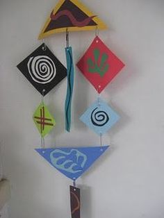 Matisse / Calder inspired Use paper clips- eliminates tying knots