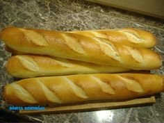 Finom bagett :: Bóbita Konyhája Hot Dog Buns, Hot Dogs, Baguette, Bread, Lunch Ideas, Food, Cakes, Meal, Essen