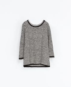 Image 4 of TWO TONE KNIT SWEATER from Zara