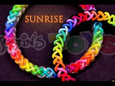 The sunrise rainbow loom bracelet was designed by youtube.com/valacrafts Please go to the channel for the original tutorial which is in German. The sunrise is one of the winning designs for our design your own fishtail contest. It features a brand new foundation stitch which was also created by valacrafts It is a 4 step sequence which alternates between 2 different stitches and since it is a hybrid theory design, it is capable of being made on both the rainbow loom and the monster tail.