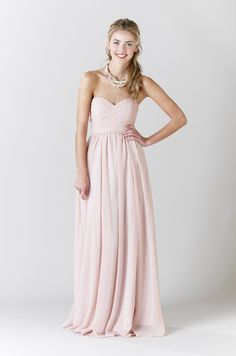Blush Bridesmaid Dress Olivia | Kennedy Blue #pastels
