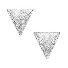 Nuovi monili di modo Semplice metallo con argento placcato Triangolare orecchino della vite prigioniera regalo per le donne ragazza E3161
