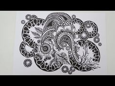 Zentangle® Zeitraffer: Daily New Challenge 347 - YouTube