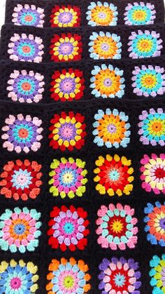 4 hippie happy cushion covers in black edging