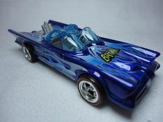 2010 Custom Mexico Convention Hot Wheels '66 tv Blue Batmobile