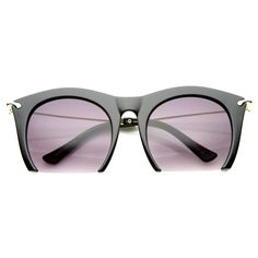 SMOOTH CUTTER Half Frame Sunglasses in Black at FLYJANE | Half Frame Sunnies | Contemporary Sunglasses Shades Frames under $25 - FLYJANE | Cute Sunnies for Less