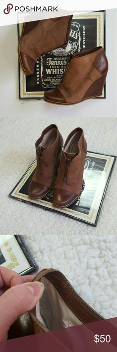 Plenty by tracy reese wedged booties So cute! Size 37.5. In excellent condition no major signs of wear. Small rip in the inside but its not noticable at all while wearing! No holds or modeling! I accept all reasonable offers! Item ships next day! Bundle for discounts! Plenty by Tracy Reese Shoes Ankle Boots & Booties