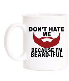 Valentine Valentines Day Gift For Him Boyfriend Gift Gift for Boyfriend Beard Gifts Valentines Day Gift for Husband Father Gift Funny Mug