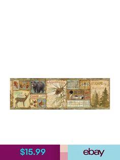 """Chesapeake Moose Lake Wallpaper Border Black Bear Cubs 6/"""" x 5 Yards"""