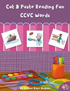 Limited time freebie! Cut and Paste Reading Fun: CCVC Words  - WriteBonnieRose.com
