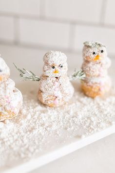 Snowy snowmen cream puffs by LaurenConrad.com