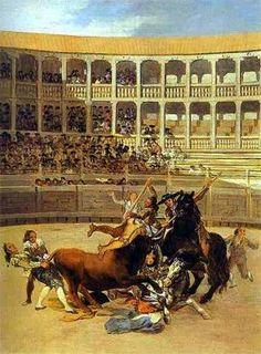 la mort du picador de Goya