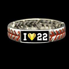Custom Number I Heart Softball Stretch Bracelet - Charming Collectables Girls Softball, Softball Players, Softball Gifts, Fastpitch Softball, Volleyball, Baseball Season, Baseball Mom, Baseball Stuff, Baseball Quotes