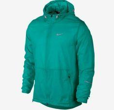 pretty nice 31e73 e9f6e Nike Hurricane Packable Hooded Running Jacket Mens L Turbo Green  Nike   TrackJacket