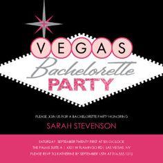 Mixbook Vegas Bachelorette Sign Bachelorette Party Invitations