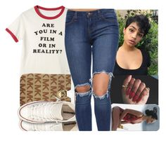 """""""BTS"""" by aribearie ❤ liked on Polyvore featuring Converse"""