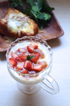 イチゴのヨーグルト