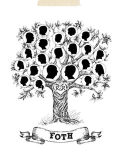 Bonbon Prints - Traditional Family Tree   This? Is beautiful!