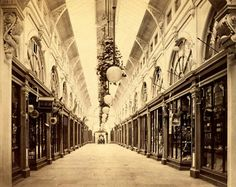 1870 photo of the Royal Arcade in Melbourne,Victoria.