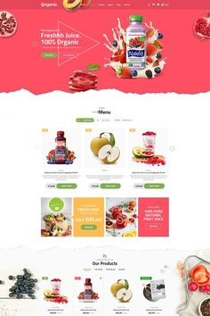 Organic WooCommerce WordPress theme - The fresh and multi-feature theme is one of the best choice for your collection. We applied most of special features to Design Web, Page Design, Design Trends, Squeeze Page, Maquette Site Web, Webdesign Layouts, Fruits Online, Restaurant Web, Ecommerce Website Design