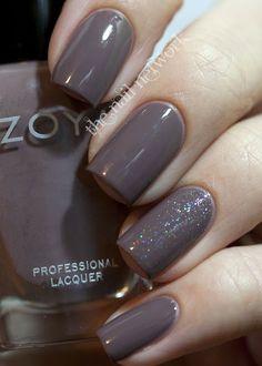 The Nail Network: Zoya Jana | See more nail designs at http://www.nailsss.com/acrylic-nails-ideas/2/