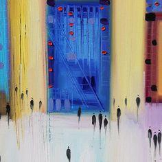 Detail: Party Time - original oil painting for sale at Bluestone Fine Art gallery Philadelphia. More art (link in profile ) . . . . . . . . . . #city #urbanart #corporate #contemporary #art #modern #modernart #club  #wedding #blog #golf #travel #wanderlust #gallery #stairs #hotel #interiordesign #phillyart #interior #style #luxury #industry #pasadena #abstractart  #house #philadelphia #philly #museum#building