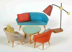 Miniature modern living room furniture  d-boxed: January 2010