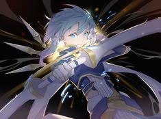 Anime Elf, Chica Anime Manga, Kawaii Anime, Sword Art Online Poster, Sword Art Online Wallpaper, Sinon Ggo, Asuna, Shino Sao, Sword Art Online Season