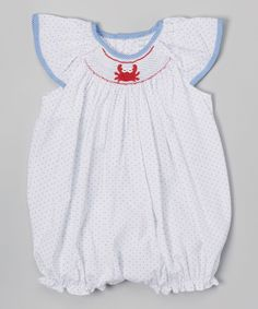 e7f67aa68 Love this White & Red Crabs Smocked Romper - Infant on #zulily! #zulilyfinds  | Baby Stuff | Pinterest | Infant